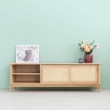 Tủ kệ tivi vân gỗ sồi MOHO VLINE 601 (màu gỗ tự nhiên)