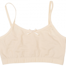 Áo lót không đệm dây nhỏ sợi bông hữu cơ màu be cho nữ và bé gái lớn - Mimi Organic