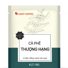 Cà phê Thượng hạng Light Coffee, túi giấy tiện lợi vị đậm, đắng mạnh - Túi 18g