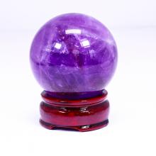 Quả cầu đá thạch anh tím đường kính 64mm mệnh hỏa. thổ - Ngọc Quý Gemstones
