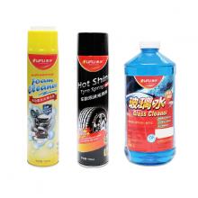 Combo 3 chai chăm sóc ô tô OUFU  Giặt nệm khử mùi, Đánh bóng vỏ xe, Nước châm rửa kính 2L 010305
