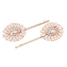 Kẹp tóc hình hoa hướng dương đính đá hồng hiệu CHIC et PLUS CEP360067- PINK