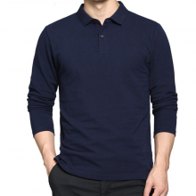 Áo thun nam cổ bẻ dài tay chất cotton co giãn cao cấp pigofashion pg09 chọn màu