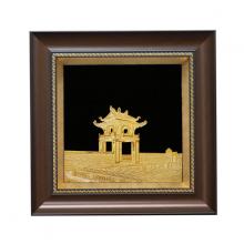Tranh Khuê Văn Các mạ vàng 24K - TKVC02