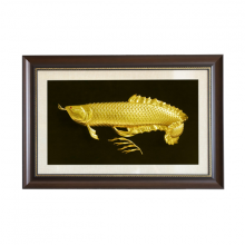 Tranh Cá Rồng phong thủy mạ vàng 24K size lớn