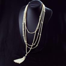 Vòng cổ Ngọc trai Thiên nhiên Cao cấp - Chuỗi đơn dáng dài - Kiểu quý cô ngọc trai - VanesPearl (5-9ly) - CTJ3410A