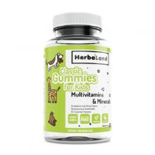 Herbaland's classic gummies for kid multivitamins minerals bổ sung vitamin tổng hợp và khoáng chất chai 60 viên