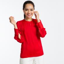 Áo satin lụa thời trang thiết kế Hity TOP103 (đỏ flame scarlet)