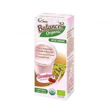 Sữa gạo hữu cơ vị dâu 4Care Balance Organic 180ml