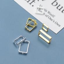 Charm bạc trắng hình chữ nhật lồng hạt 18mm (đk trong 8.5mm) - Ngọc Qúy Gemstones