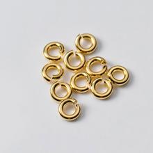 Khoen hở bạc mạ vàng 1x5mm - Ngọc Qúy Gemstones