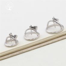 Charm bạc làm mặt dây chuyền gắn hạt  đá tròn hình chuông doremon