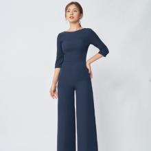 Jumpsuit  dáng dài xanh than SJS19015