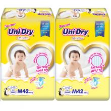 (Tặng 1 khăn ướt Unifresh 80 tờ) Combo 2 gói tã dán Unidry size S48 - M42 -L38 - XL34