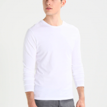 Áo thun dài tay cổ tròn chất thun cotton kiểu dáng hot trend pigofashion adt01 chọn màu