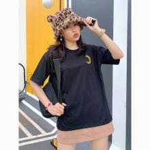 Áo thun, áo phông unisex phom rộng tay lỡ Thời trang Eden thêu hình - ATT009