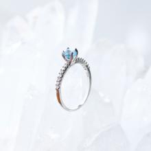 Nhẫn bạc nữ đá Topaz kiểu dáng 2mệnh thủy, mộc - Ngọc Quý Gemstones