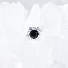 Nhẫn bạc nữ đá Sapphire mệnh thủy, mộc - Ngọc Quý Gemstones
