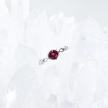 Nhẫn bạc nữ đá Garnet mệnh hỏa, thổ - Ngọc Quý Gemstones