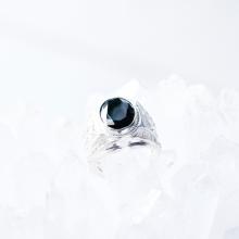 Nhẫn bạc nam đính đá đen - Ngọc Quý Gemstones