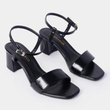Giày sandal cao gót Erosska thời trang mũi vuông phối quai dây mảnh nhiều màu cao 5cm EB030
