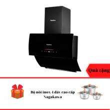 Máy hút mùi kính vát cao cấp Nagakawa NAG1854-70VM - Bảo hành 5 năm - Tặng Bộ nồi inox 4 đáy