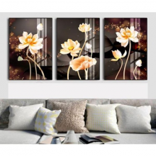 Tranh treo tường hoa sen vàng THD52MP (TẶNG ĐINH 3 CHÂN)