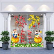 Combo decal trang trí tết Tân Sửu 1 PK648 (200x200cm)