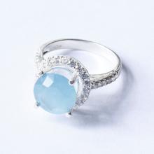 Nhẫn bạc nữ đá Aquamarine mệnh thủy, mộc - Ngọc Quý Gemstones