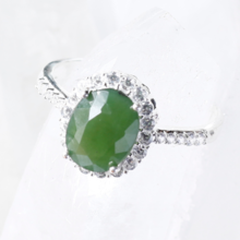 Nhẫn bạc nữ đá thiên nhiên - Ngọc Quý Gemstones