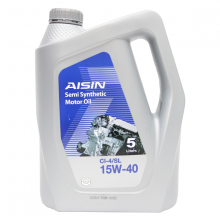 Nhớt động cơ AISIN ECSI1545P 15W-40 CI4  SL Semi Synthetic 5L