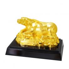 Tượng Kim Ngưu mạ vàng cao cấp - TKNV03
