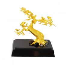 Cây Hoa Đào Thế Bonsai mạ vàng 24K