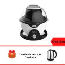 Nồi chiên không dầu 6L Nagakawa NAG3301 xoay 360 độ - Tặng Ấm siêu tốc inox 1,8 Lít - hàng chính hãng