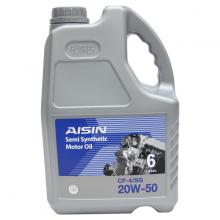 Nhớt động cơ AISIN ECSF2056P 20W-50 CF4  SG Semi Synthetic 6L