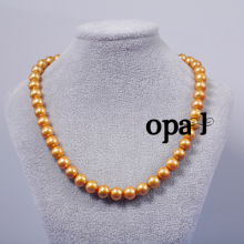 Opal-Vòng cổ ngọc trai  vàng BST 108