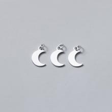 Charm bạc trắng hình ông trăng treo - Ngọc Quý Gemstones