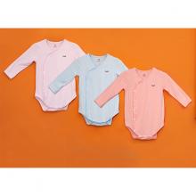 Bodysuits dài tay cho bé vải tre cao cấp  Haki (3m - 18m) BB021