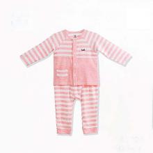 Bộ dài tay cho bé cài giữa, túi tròn vải tre cao cấp Haki (newborn - 3y) BB024