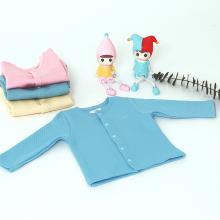 Áo khoác cho bé - vải sợi tre chần bông viền cổ  Haki (3m - 3y) BB017