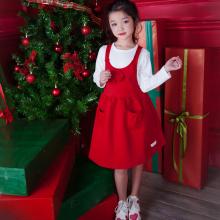 Váy yếm đỏ bé gái Haki (2-8y)