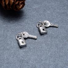 Charm bạc ổ khóa treo - Ngọc Quý Gemstones