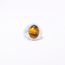 Nhẫn bạc nam mắt đá thạch anh mắt hổ ni19 mệnh thổ, kim - Ngọc Qúy Gemstones