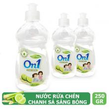 Nước rửa chén On1 dung tích 250g - Nhiều mùi hương - Sạch bóng vết dầu mỡ
