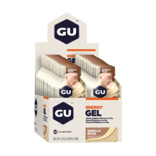 Hộp 24 gói gel uống bổ sung năng lượng Gu Energy gel vị vani đậu