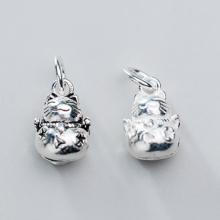 Charm bạc mèo thần tài treo - Ngọc Quý Gemstones