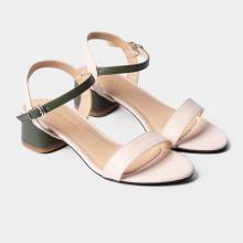 Giày sandal cao gót Erosska thời trang mũi tròn phối dây nhiều màu tinh tế EB019
