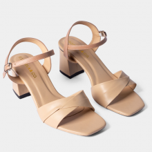 Giày sandal cao gót thời trang Erosska mũi vuông quai ngang bắt chéo cao 7cm EB020