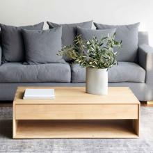 Bàn sofa, bàn trà Nordic gỗ cao su