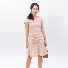 Váy đầm chữ a thời trang Eden lệch vai - D394
